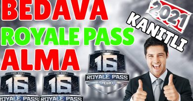 Bedava Royale Pass Alma 16 Sezon
